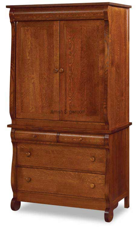 Old Classic Sleigh Armoire 2 Piece JRO 041