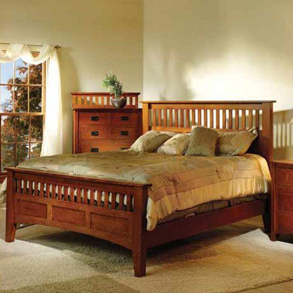 Mission Antique Bedroom Set in Bedroom | Amish Furniture
