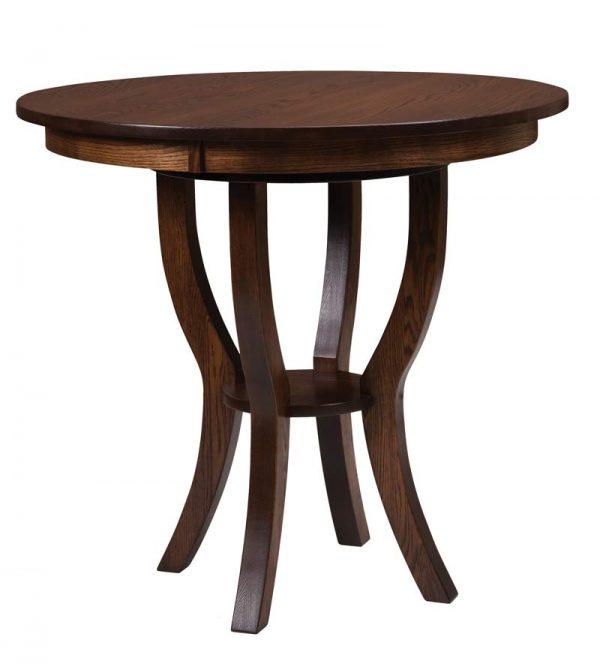 Dillan Bistro Table - Shown in oak wood