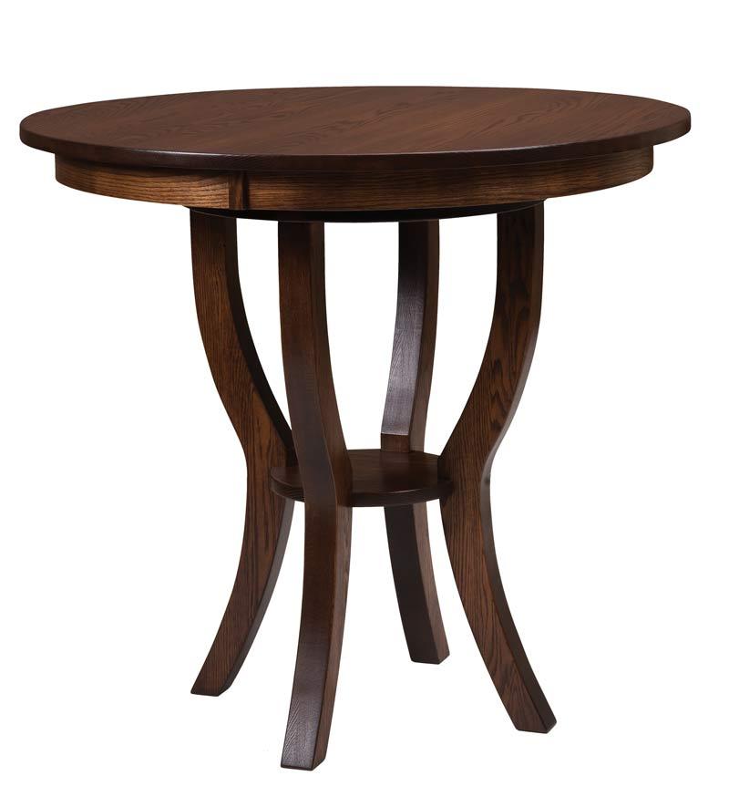 Great Dillan Bistro Table   Shown In Oak Wood