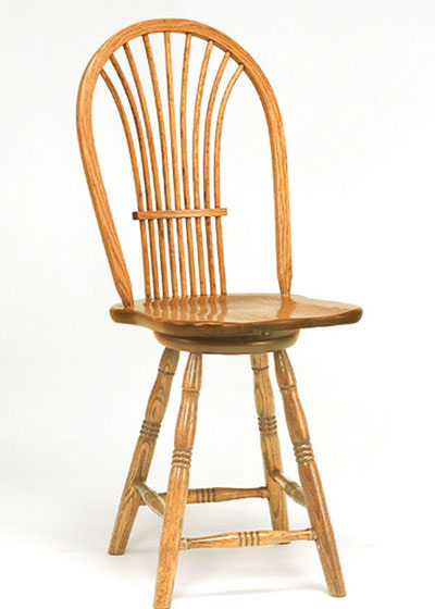 Country Sheaf Swivel Barstool