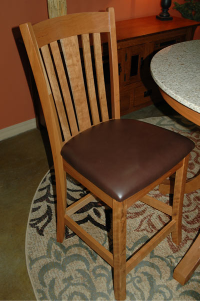 Madison Barstool   Natural Cherry/Mahogany Leather
