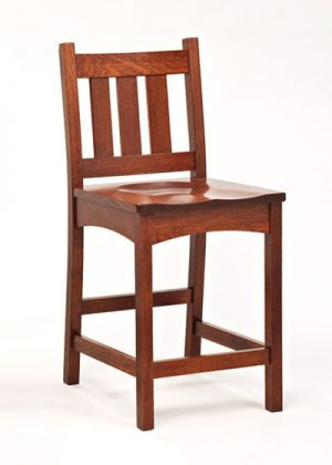 Vintage Mission Stationary Barstool