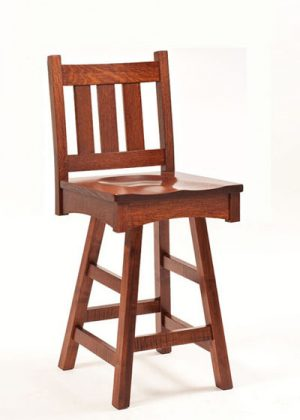 Vintage Mission Swivel Barstool