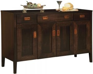 Fayette Sideboard - Shown in Brown Maple/Onyx