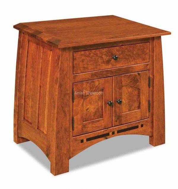 026  shorter nightstand Boulder Creek 1 Drawer 2 Door