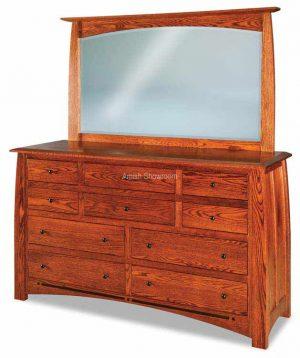 Boulder Creek Dresser with mirror - Amish built solid wood