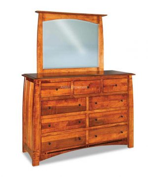 Boulder Creek dresser with mirror - Amish Built - Solid Wood