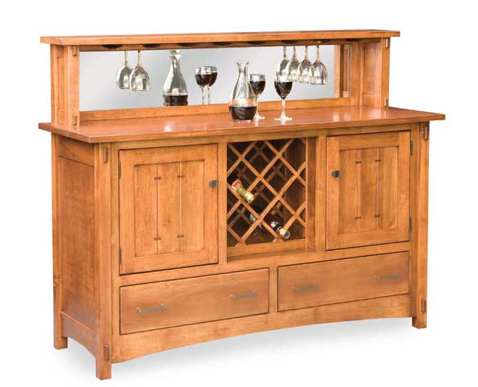 Crestline Buffet w wine rack