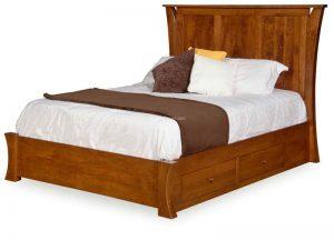 Caledonia 3 panel bed-platform