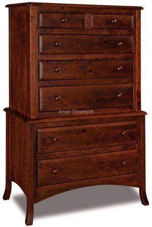 Carlisle 7 Drawer Chest on Chest 037