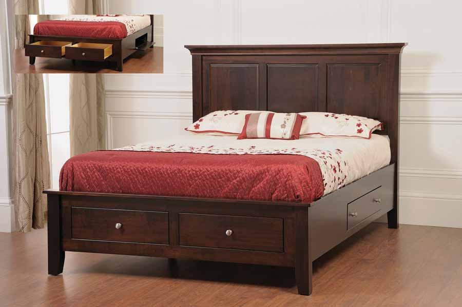 Ellington bed with underbed storage tr2092 for 1 for Ellington bedroom set