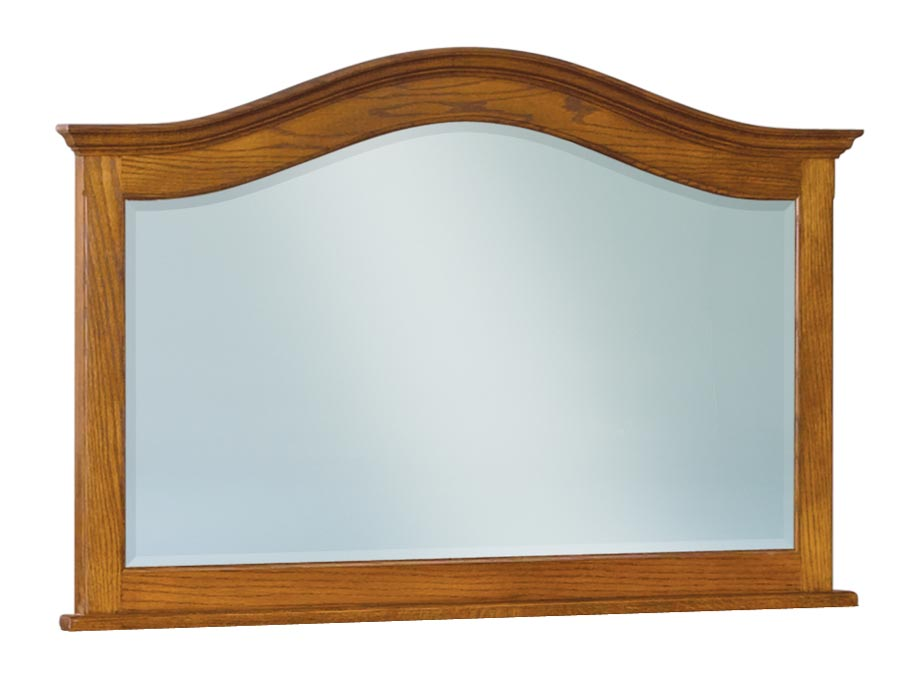 Shaker Beveled Arched Crown Top Chest Mirror JRS 038