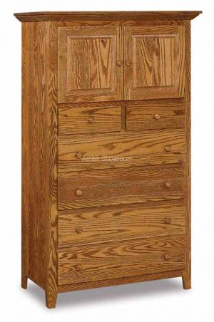 Shaker 6 drawers 2 doors Chest Armoire JRS 039