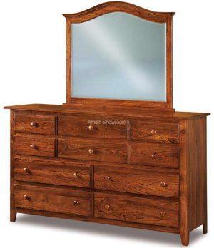 Shaker 10 Drawer Dresser JRS 066 ( w/o mirror)