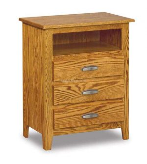 Shaker 3 Drawer Nightstand with Opening JRS 029