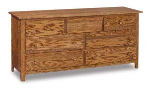 Shaker 7 Drawer Dresser JRS 072
