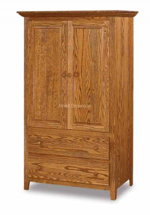 Shaker Armoire 2 Drawers 2 Doors JRS 041