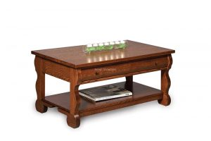 Old Classic Sleigh Coffee Table with drawer FVCT-OCS