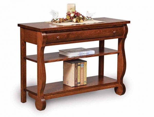 Old Classic Sleigh Sofa table featuring optional shelf FVST-OCS