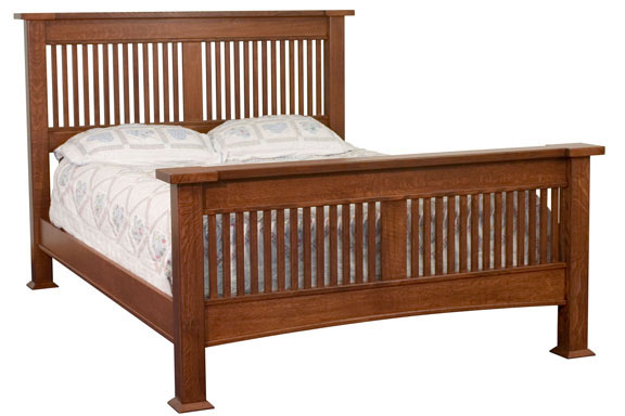 Brooklyn Mission Slat Bed For 1 359 00 In Bedroom Amish