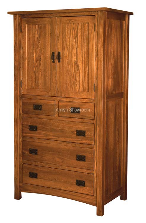 Brooklyn Mission Armoire 2 Door 5 Drawer For 2 319 00