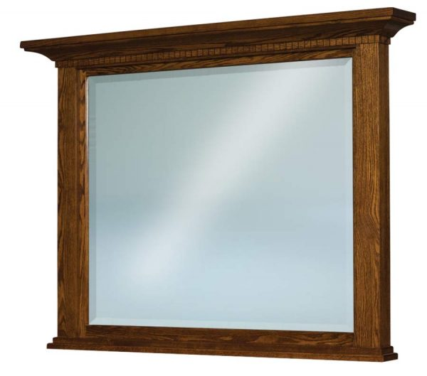 Empire Beveled Square Post Crown Mirror 046