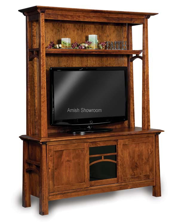Artesa Two-Piece Media Cabinet FVE-060-A  sc 1 st  Amish Showroom & Custom Solid Wood Entertainment Centers | Amish Showroom