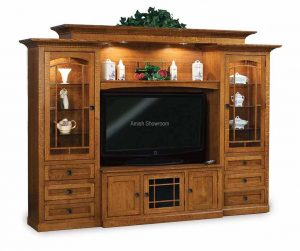 Manhattan Mission 6-Piece Wall Unit With Adjustable Bridge FVE-0490-MM- 45 1/2 & 50 1/2