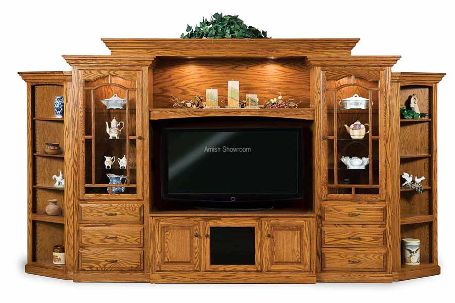Hoosier Heritage 8 Piece Wall Unit With Adjule Bridge And Side Corner Cabinets Fve 049 Hh