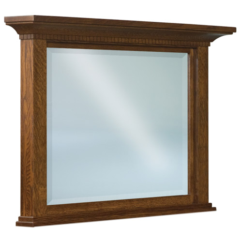 Empire Beveled Square Post Crown Mirror 030