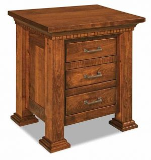 Empire 3 Drawer Nightstand 025