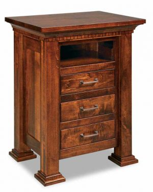Empire 3 Drawer With Opening Nightstand 029