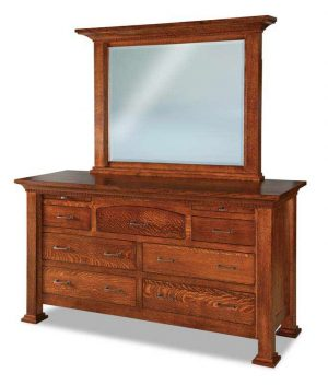 Empire 7 Drawer Dresser With Arched Drawer & Jewelry Drawers 067