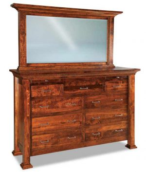 Empire 9 Drawer Dresser w/ Arched Drawer & Jewelry Dr. JRE 067-1