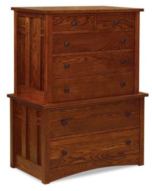 Kascade 7 Drawer Chest on Chest JRK 037