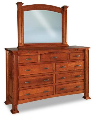 Lexington 9 Drawer Dresser with Arch Drawer JRL 067-1