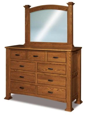 Lexington 9 Drawer Mule Dresser JRL 058
