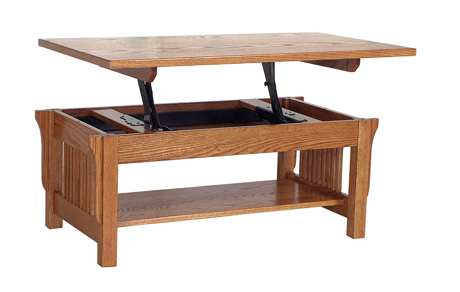 Landmark Lift Top Table Lm2442lft For 590 00 In Living Room Amish Furniture