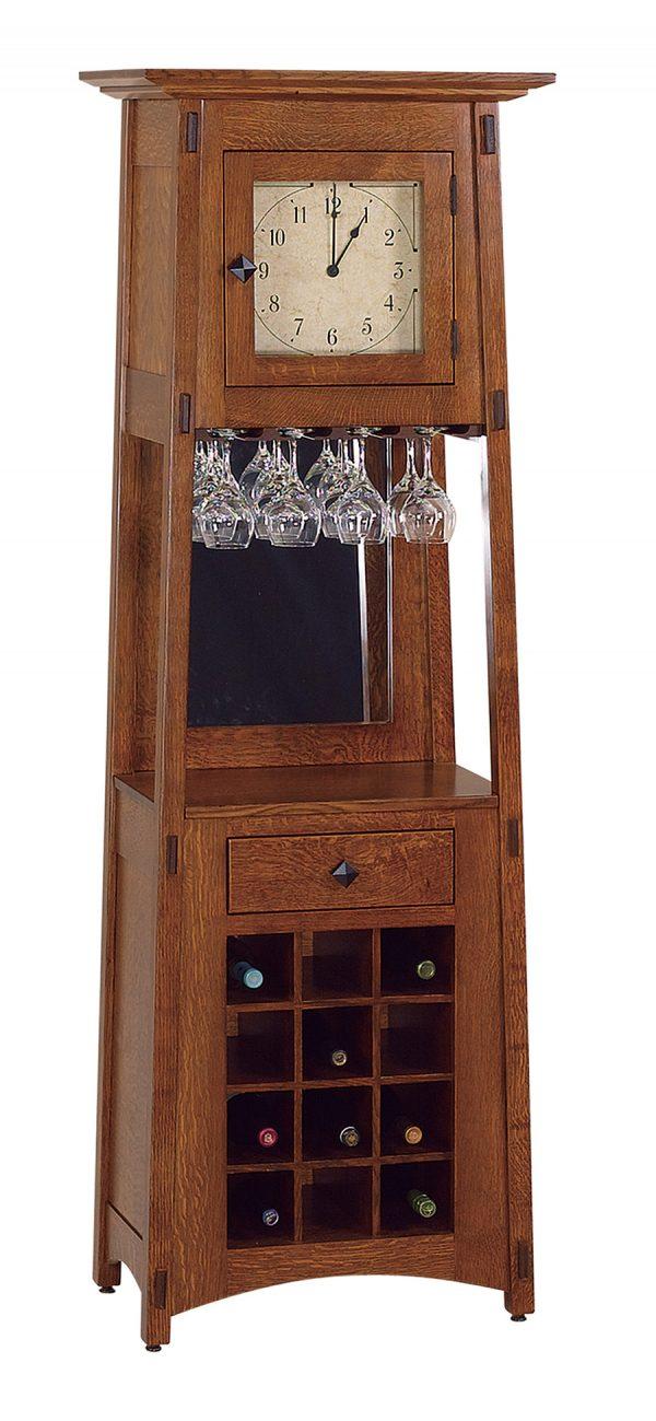 McCoy Wine Rack Clock MCWINECLK