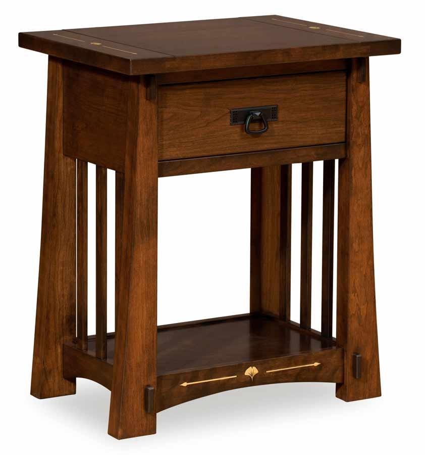 Mesa Open Nightstand for $660.00 in Bedroom   Amish Furniture