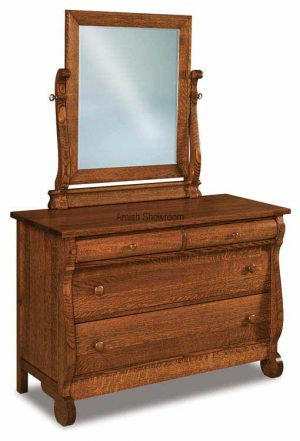 Old Classic Sleigh Dresser 4 Drawer JRO 051-1