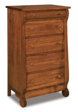 Old Classic Sleigh 5 Drawer Chest JRO 035