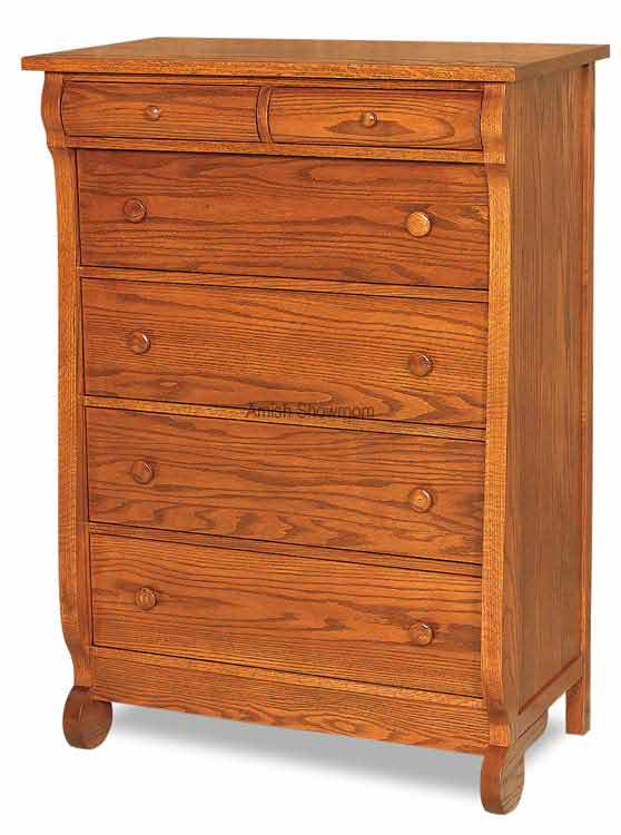 Old Classic Sleigh 6 Drawer Chest JRO 040