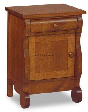 Old Classic Sleigh 1 Drawer, 1 Door Nightstand JRO 022
