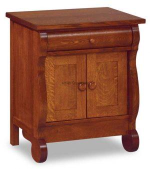Old Classic Sleigh 1 Drawer 2 Door Nightstand JRO 028