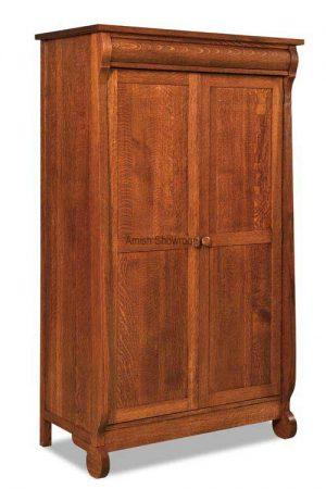 Old Classic Sleigh Wardrobe Armoire JRO 050
