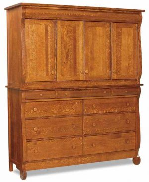 Old Classic Sleigh Mule Chest  2 pieces JRO 053