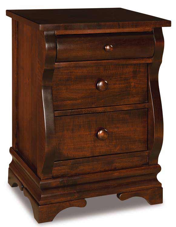 Chippewa Sleigh Nightstand 3 drawer JRCS 021