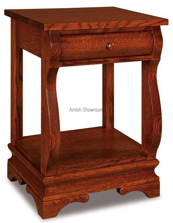 Chippewa Sleigh Open Nightstand 1 Drawer JRCS 019